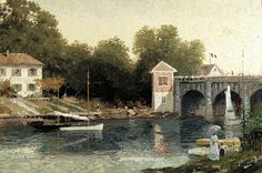 Thomas Kinkade Afternoon at Argenteuil oil painting for sale and frame, painting…