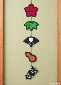 フェルトで簡単手作り!紋切り絵風のつるし飾りの作り方|ぬくもり New Years Decorations, Mother And Child, Art School, Origami, Craft Projects, Arts And Crafts, Clock, Paper, Videos