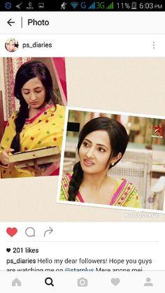 Puja sharma Instagram as chanda in mere angne mein #starplus
