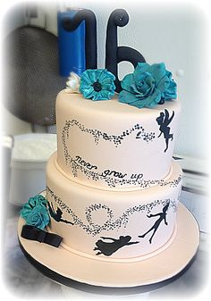 Peter Pan silhouette cake - For all your cake decorating supplies, please visit https://craftcompany.co.uk