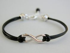 Genuine LEATHER  INFINITY Bracelet Leather Cord  PICK by BeMyCharm, $14.95