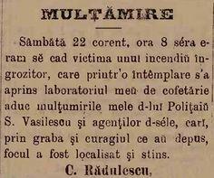 Mesaj de recunoștință, un elegant gest... anul 1886!  Sursa: Telegraful de Bucuresci, 1 aprilie 1886/ Biblioteca Digitală a Bucureştilor