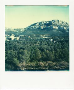 Campus de Luminy #Marseille #calanques #Luminy #UAM #campus #polaroid #montPuget #SX70 #architecture / www.marseillepolaroid2013.com