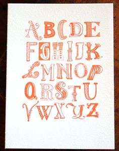what could be better than an orange alphabet?