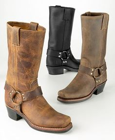 Frye Boots ~ You can never have too many of these harness boots by Frye!