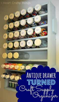 I HEART CRAFTY THINGS: Antique Drawer turned Craft Supply Organizer
