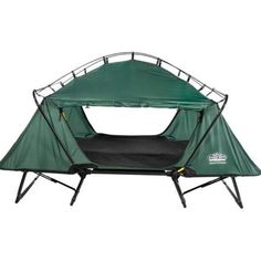 """Kamp-Rite's Double Tent Cot is the two-person version in the line of Tent Cot products. The sturdy aluminum frame keeps you 11"""" above the ground to provide comfort and protection from insects, rocks and dampness."""