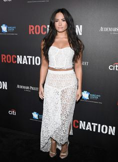Singer Demi Lovato attends 2017 Roc Nation Pre-Grammy Brunch at a private residence on February 11, 2017 in Los Angeles, California.