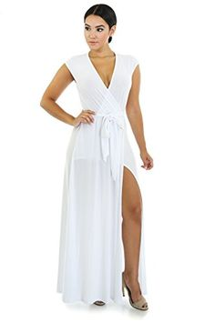 Summer Goddess Maxi Dress S WHITE * You can find out more details at the link of the image.