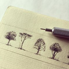 And here a close up to the trees some of you asked me  I don't thinks it's something special but the point to highlight simple tools are the best, reliable and most versatile. I really love the texture and feeling of this verge paper. I can't use another one.