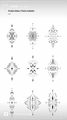 Henna Inspired Tattoos, Small Henna Tattoos, Boho Tattoos, Mini Tattoos, Unique Tattoos, Body Art Tattoos, Small Symbol Tattoos, Cat Tattoos, Tattoo Small