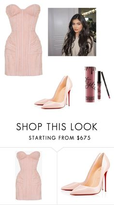 """Feeling Kylie Jenner"" by kkmahony ❤ liked on Polyvore featuring Balmain, Christian Louboutin and Kylie Cosmetics"