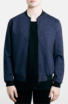 Topman Tailored Jersey Bomber Jacket