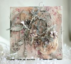 eleele-handmade: Christmas Canvas with Shimmerz and some news