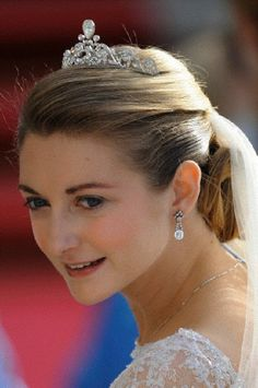 View of the tiara of Princess Stephanie, Hereditary Grand Duchess of Luxembourg