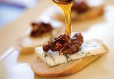 Blue Cheese with honey and walnuts make a perfect trio.