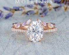 HANDMADE RINGS & BRIDAL SETS by MoissaniteRings on Etsy Bridal Ring Sets, Handmade Rings, Healthy Skin Care, Moissanite, Etsy Seller, Merry, Engagement Rings, Crystals, Diamond