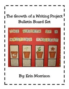 Your students will finally understand the process of writing a story when you compare it to the growth of a flower! This bulletin board set is ever...