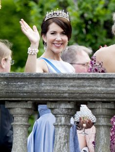 Crown Princess Mary wore the same tiara, she wore at her own wedding.
