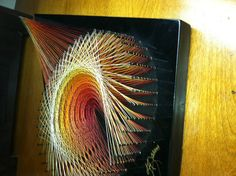 The Perfect Piece to Complete that Groovy look with this Vintage or String Art String Art Templates, Thread Jewellery, Diy And Crafts, Projects To Try, Weaving, Crafty, Unique Jewelry, Handmade Gifts, Artwork