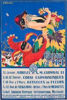 ✨  F. SERRACHIANI  CARNAVAL DE NICE du 31 janvier Arrivée de S.M. CARNAVAL à Avril Concours hippique. 1929 Imprimerie Moullot, Marseille