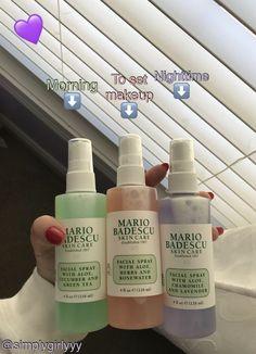 Mario Badescu face mists the whole day Beauty Care, Beauty Skin, Beauty Tips, Beauty Hacks, Beauty Ideas, Beauty Makeup, Beauty Secrets, Diy Beauty, Homemade Beauty