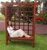 Image result for how big is a standard garden arbor bench