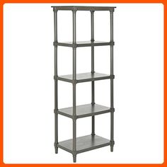 Safavieh American Home Collection Odessa Grey Bookcase - Improve your home (*Amazon Partner-Link)