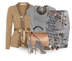 """""""Camel Sweater"""" by loveroses123 ❤ liked on Polyvore featuring Valentino, Steffen Schraut, Yves Saint Laurent, Chloé, Gianvito Rossi, Ashley Pittman and Nak Armstrong"""