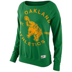 Oakland Athletics Women's Cooperstown Washed Epic Crew Fleece by Nike - MLB.com Shop