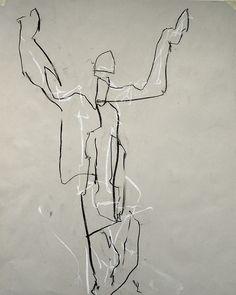 Joe Howlett Charcoal on paper - Life drawing - (2012)