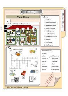 das Haus und die Möbelstücke | KOSTENLOSE DAF Arbeitsblätter