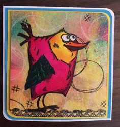 """I used Tim Holtz """"Crazy Birds""""...so fun!! (Made by Debi Pursley)"""