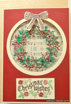Stampin' Up! Cozy Christmas and Peaceful Wreath Stamp Sets www.janbcards.com