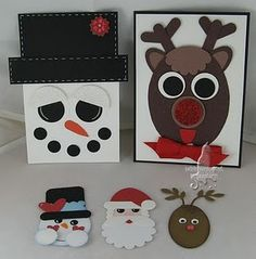 Decorate on paper bags and fill with Christmas treats!