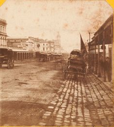 Swanston St #Melbourne, looking S from around Lonsdale towards Lt Bourke, c.1869