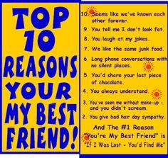 ... Site > Friends > Top 10 Reasons Your My Best Friend Comment Codes