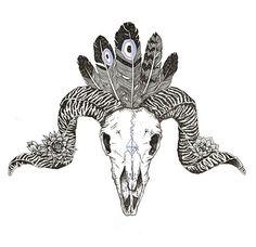 Ram skull tattoo ideas for my left thigh.