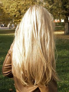 long blonde hair YES! I've always loved my long blonde hair! That's why I have a hard time and debate whether to cut it off or leave it long!