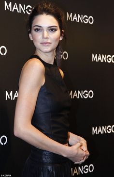Sleek and sophisticated: Kendall is the first of four campaign stars for Mango this Spring...