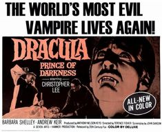Horror Posters, Horror Films, Film Posters, Vampire And Werewolf Movies, Vampires, Dracula Film, Fisher, Prince Of Darkness, Hammer Films