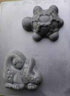 Turtle and Dinosaur - Make your own Turtle or Dinosaurs from this fantastic mould from the NZ made chocolate craft or soap mold range.