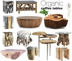 """""""Organic Coffee tables"""" by soofiia on Polyvore"""