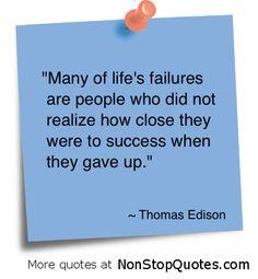 Thomas Edison #Quote  #success quote