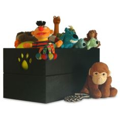 Paw Design Dog Toy Box