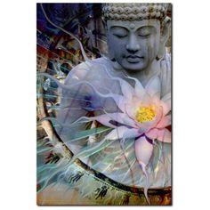 Buddha with Lotus - Canvas Print - Zen Meditation Art - Living Radiance - Premium Canvas Gallery Wrap - Fusion Idol Arts - New Mexico Artist Christopher Beikmann