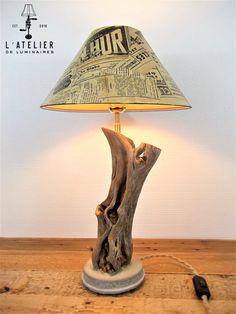 Lampe bois_Naturel_Recyclé_Wood par AtelierDeLuminaires sur Etsy