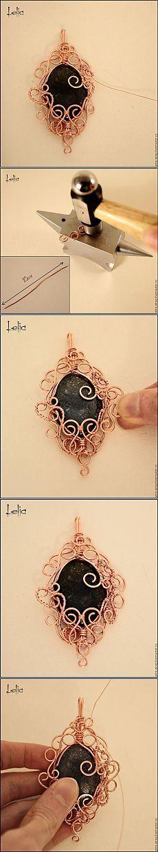 Мастер-класс по плетению кулона из медной проволоки (часть 2) - Ярмарка Мастеров - ручная работа, handmade