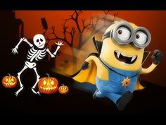 Minions of despicable me spend their Halloween fighting evil skeletons and enjoying Banana. Watch the epic adventure of the funny cute Minions in this stop m. Minions Film, Minions Images, Despicable Minions, Minion Movie, Minion Pictures, Funny Pictures, Minions Quotes, Funny Minion, Minion Halloween