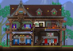 I made a thing now give me 3 karma : Terraria <<< reference for minecraft now! Terraria House Design, Terraria House Ideas, Minecraft Treehouses, Minecraft Houses, Terraria Castle, Building Games, Building Ideas, Minecraft Survival, Biomes